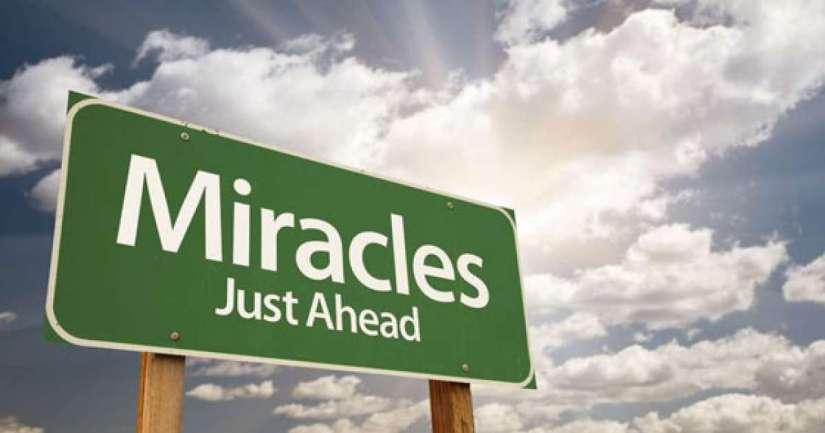 MIRACLES DO HAPPEN…..
